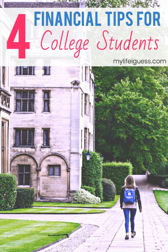 Students are bombarded with advice as they leave high school and enter college or university - especially when it comes to their finances. Because managing your money as a college student can be hard! Here are 4 tips that can help. #college #tips #financialtips #studentmoney