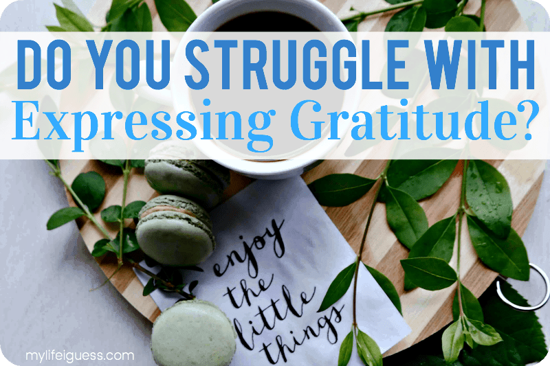 Do You Struggle With Expressing Gratitude? - My Life, I Guess