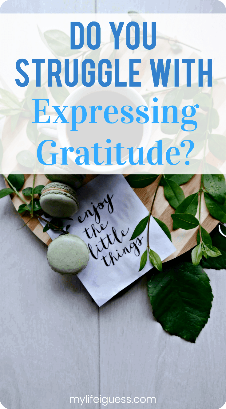 Practising gratitude can change your life for the better. Being more thankful can improve your relationships, your physical health, your mental health, your overall well-being and can make you more successful. Become more mindful and gracious with these simple tips to help you express gratitude.  Do You Struggle With Expressing Gratitude? - My Life, I Guess  #gratitude #grateful #beinggrateful #gratitudejournal #bettersleep #mentalhealth #mindfullness #wellbeing #selfcare
