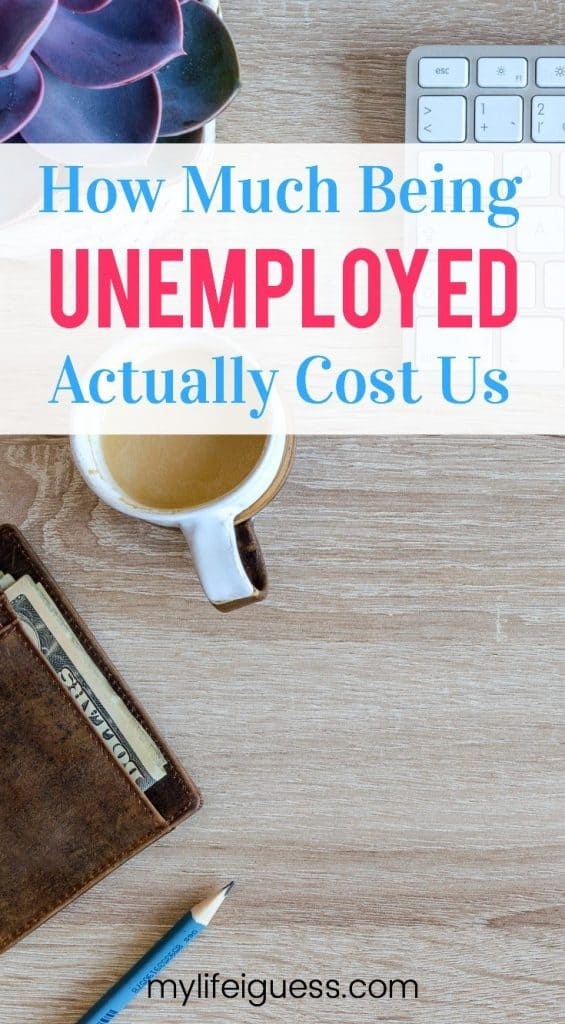 Are you or have you ever been embarrassed by your debt? What advice or encouragement would you give to others that feel the same way? How Much Being Unemployed Actually Cost Us - My Life, I Guess  being in debt, embarrassed by debt, loss of income, laid off, unemployed, survival job, living off credit, credit debt, interest cost