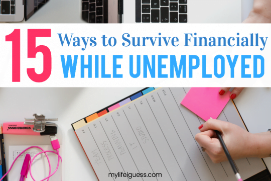 15 Ways to Survive Financially While Unemployed - My Life, I Guess