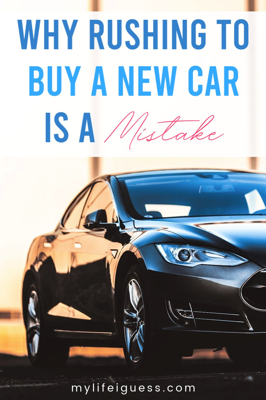 Why Rushing to Buy a New Car is a Mistake - Buying a car isn\'t your typical impulse purchase, but I\'m guilty of rushing to buy a new car, which turned out to be a costly mistake. Learn from my mistake. Keep driving your old car. Talk public transit. Rent a car temporarily. Make a plan to figure out if you really need a car or just want one. And figure out how much you can afford to spend based on your budget. Your financial future will thank you.