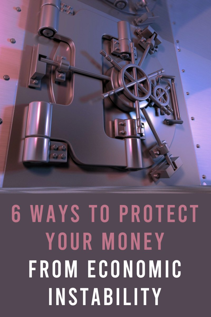 6 Ways to Protect Your Money from Economic Instability - There are very few things that are certain in life. Along with death and taxes, you can always count on inflation and economic instability. Invest in gold, invest in stocks, invest in foreign currency, invest on alternate assets, invest in tangible items, invest in collectables, invest in yourself, eliminate debt, reduce debt, save money, manage your money, protect your money, increase your income