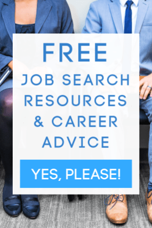 ad for free job search resources and career articles