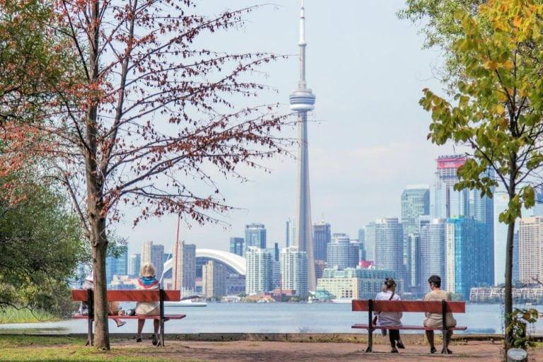 Toronto Ontario Skyline and CN Tower