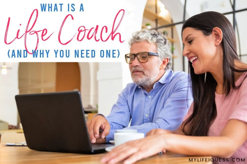 male and female colleagues different ages co-working with the text What is a Life Coach And Why You Need One
